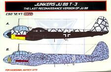 KORA Models 1/72 JUNKERS Ju-88T-3 Last Recon Version Resin Conversion Set