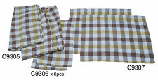 Westfalia Curtain Set VW T2 Split Screen Yellow White Brown Cheque C9236
