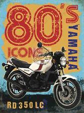 YAMAHA RD 350 LC EIGHTIES CLASSIC ICON VINTAGE STYLE MOTOR BIKE METAL WALL SIGN