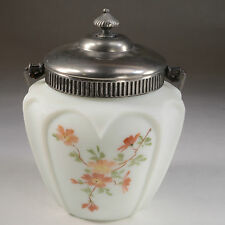 CONSOLIDATED VICTORIAN BISCUIT JAR HEART SHAPE DESIGN WITH HAND PAINTED