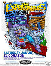 Expendables/Stick Figure/Seedless 2014 Seattle Concert Tour Poster-Reggae Music