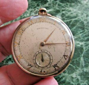 Hamilton Pocket Watch - X86788 - Open Face - 10K GF - 17j - runs        (7