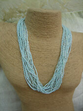 MULTI STRAND TURQUOISE BEADED NECKLACE