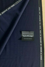 3.5 Metres Navy Super 100s Ultrafine Pure Wool Suit Fabric. 290g