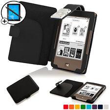 Nero Smart Cover Con Custodia In Pelle con luce LED Luce per Tolino Pagine