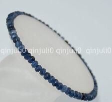 Faceted 2x4mm Kynaite Roundlle Gemstones Bracelet 7.5 inch J148