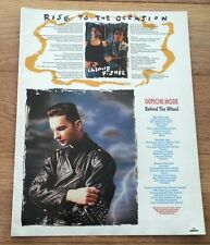 DEPECHE MODE Behind The Wheel lyrics magazine PHOTO / Poster 11x8 inches