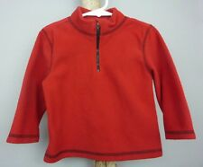 Toddler Unisex FADED GLORY Fleece Pullover Jacket Sweater / Red / Half Zip / 24M