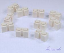 LEGO - 10 x Stein mit Nut 1x2 weiss für Rolltor / Garagentor / 4216 NEUWARE