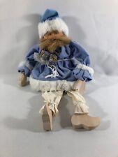 Posing Santa Figurine Doll Wood