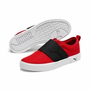 Men's Puma EL Rey II Slip-on Shoes Red Canvas Sneakers 374785-02 Size 13