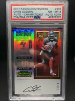 2017 Panini Contenders Chris Godwin Championship Ticket Rookie Auto /49 PSA 8 RC