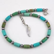 Carolyn Pollack Relios Sterling Silver Green Turquoise Bracelet 10.5  LFE3