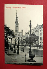 AK DANZIG um 1905 Langegasse mit Rathaus ( 63239