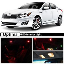 11x Red Interior Map Dome LED Lights  Package Kit Fit 2011-2015 Kia Optima K5