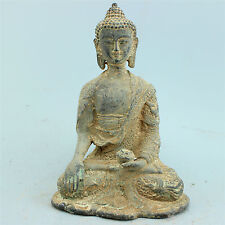 Chinese Folk Culture bronze statue hand-carved collection Family art Buddha AAAA