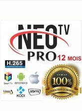 NEO PRO 2 H265 CODE OFFICIEL  POUR 12 MOIS ( smart tv, android, tv box)