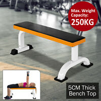 HOMCOM Barbell Flat Fitness Bench Press Dumbbell Weight Lifting Abs Workout Gym