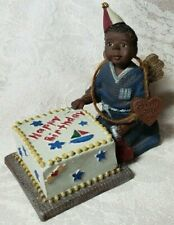 "Sarah'S Attic Black Boy Figurine Happy Birthday Cake ""Labor of Love - Birthday"""