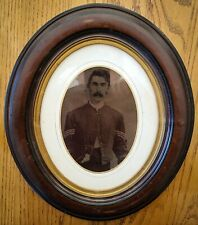 Full Plate Tintype Union Sergeant in Period Oval Frame & Glass