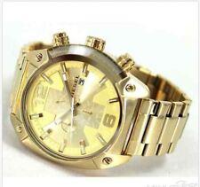 Men's Gold Tone Diesel Overflow Chronograph Steel Watch DZ4299