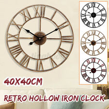 Wanduhr Metall Wand Wohnzimmer Uhr Dekouhr Vintage Designuhr 40 cm Schwarz