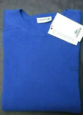 Lacoste Men's 100% Cashmere Crew Neck Steamer Blue Soft Touch Sweater 2XL EU 7