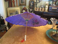 OLD -PURPLE fashioned Japanese umbrella VERY GOOD CONDITION W/A GREAT PRICE