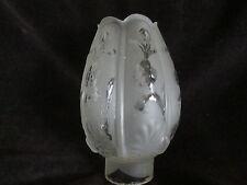 Petroleumlampenglas/Zylinder, satiniert, 5,3cm unterer Einsteckrand