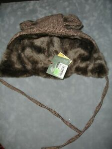 New San Diego Hat Co faux fur lined Hat Kids Animal Winter Beanie
