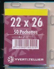 1 Blister 50 Pochettes fond noir simple soudure 22x26
