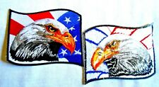 """4""""X3"""" BALD EAGLE AMERICAN FLAG iron-on EMBROIDERED PATCH USA PATRIOTIC EMBLEM"""