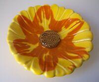 Vintage 1950's SANTA ANITA WARE California Pottery Mid Century Sunflower Dish