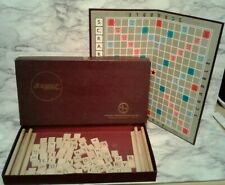Vntg 1953 SCRABBLE Crossword Puzzle Game by Selchow & Righter COMPLETE!