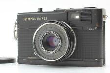 Olympus Trip 35 BLACK Point & Shoot D.Zuiko 35mm f2.8 Film Camera From Japan