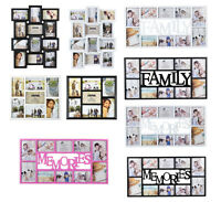 Arpan Multi Image Aperture Photo Picture Frames 6x4,5x7 Holds 7,10 12 -In 3 Colr