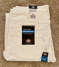 Dickies Men's Painters Relaxed-Fit White Canvas Work Utility Pant, 30 x 32