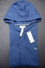 Lacoste Men Lightweight Anchor Chine Cotton Hooded Shirt New Big & Tall 10L 3XLT