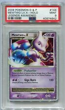 Pokemon Karte Mewtwo Level X Legends Awakened Set 144/146, PSA 9 Neuwertig