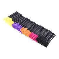 New 50Pcs Silicone Head Disposable Mascara Wands Eyelash Brushes Lash Extention