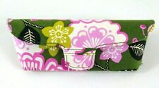 Vera Bradley Olivia Pink Glasses Case Hardshell Snap Closure Green Retired 2013