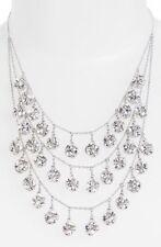 Kate Spade Lady Marmalade Necklace dancing triple strand disco balls silver