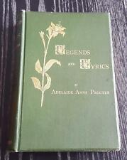 1884 Legends and Lyrics Adelaide Anne Procter Poetry Introduction by Dickens