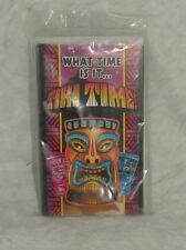 Tiki Time Luau Birthday Party Invitations set of 8 Fill In Cards