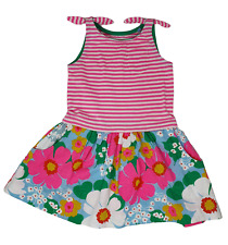Ex Mini Boden Girls Pink Stripe Hotchpotch Bow Jersey dress ages 2-10 NEW