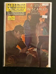 Classics Illustrated 110 HRN 111 Study in Scarlet Mid-Grade Comic Book CL65-141