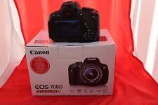 Canon EOS 700D 18.0MP Fotocamera Reflex Digitale-Nero-solo corpo.