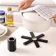 Foldable Non-slip Heat Resistant Pad Trivet Pan Pot Holder Mat Home Kitchen US