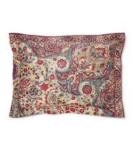 New Ralph Lauren pillow sham Bohemian Muse Burgundy Larson Standard