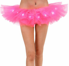 Women Fancy LED Light Up Tutu Dress Halloween Costume Adult Skirt